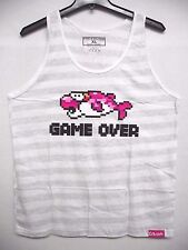 Pink Dolphin Mens Legends Classic Game Over Tank Top  Tee Shirt SZ XL Cotton
