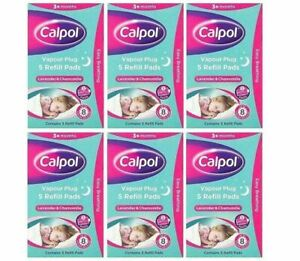 Calpol Soothe & Care Vapour Night Plug In 5 Refills Cold and Nasal block Variety