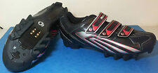 Pearl Izumi Select MTB Shoes Size 44 Black Red Silver Brand New RRP £89.99