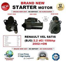 FOR RENAULT VEL SATIS BJ0 2.2 dCi 2002-ON STARTER MOTOR 2.0kW 10-Teeth BRAND NEW