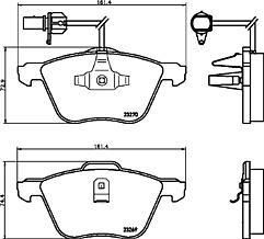 Mintex MDB2126 Front Brake Pad Set