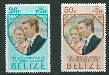 BELIZE SG360/1 1973 ROYAL WEDDING MNH