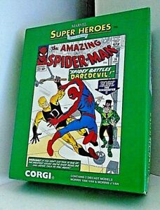 Vintage Corgi Marvel Super Heroes Spider-Man 2 P/c Set 88972 - M/B Ex Shop Stock