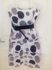 Review Ruffle Strapless Dress With Polka Dots Size 8