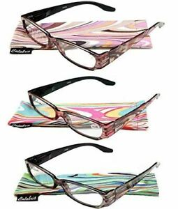Calabria 738 Reading Glasses w/Matching Case in Taupe +2.75