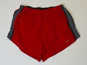 "Men's Nike Tempo 4"" Shorts - MEDIUM - red/grey"