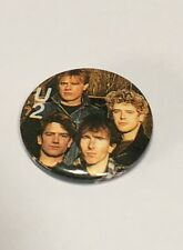 Old Vintage U2 Badge - Early Years Young Bono Rock Band - Genuine Old Item