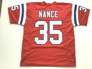 UNSIGNED CUSTOM Sewn Stitched Jim Nance Red Jersey - M, L, XL, 2XL