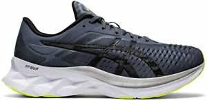 ASICS Men's NOVABLAST Running Shoes, Metropolis/Black, 13 D(M) US