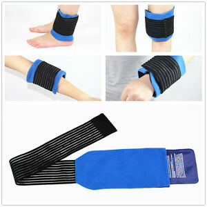Hot Cold Gel Ice Pack with compression cuff Ease Pain for Back Neck Knee Ankle