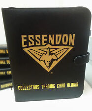 AFL CLUB COLLECTORS TRADING CARDS ALBUM -- ESSENDON ALBUM (+ 10 Pages)