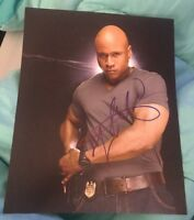 LL COOL J SIGNED 8X10 PHOTO NCIS LOS ANGELES COP DETECTIVES W/COA+PROOF RARE WOW
