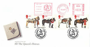 (04712) GB FDC All the Queens Horses METER British Horse Society 1997