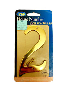 IVES Solid Brass House Number ~ Choose Yours