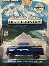 Greenlight 1/64 2018 Chevy Silverado 1500 High Country Truck Blue 29938 Hobby XC