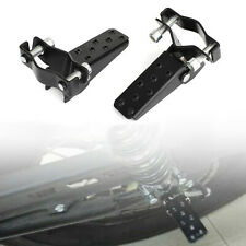 Universal For Motorcycle Passenger Foot Peg Rear Pedal Footrest 25-28mm Black B4