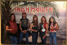 Iron Maiden Original Vintage Poster Music Memorabilia Full Band Beach 1984 1980s