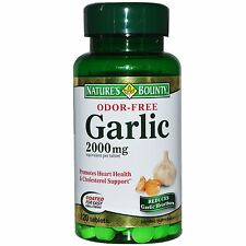 Nature's Bounty, Garlic, Odor-Free, 2000 mg, 120 Tablets