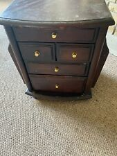 Dark Wooden Free Standing Living Room Cabinet with Drawer and magazine Storage