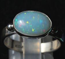 Weisser Opal Brasilien 2.25 Karat Ring Silber 925 Größe 18,1 mm  one of a kind
