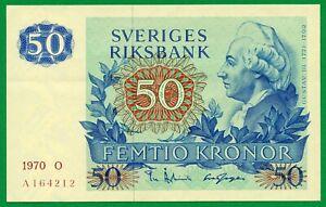 Sweden 50 Kronor 1970  P-53a , UNC