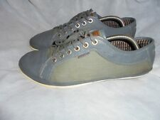 TED BAKER MEN GREY LEATHER/TEXTILE LACE UP CASUAL SHOES SIZE UK 8 EU 42 VGC