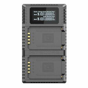 2-fach-USB-Ladegerät Nitecore FX2 PRO für Fuji Kamera-Akkus für GFX 50S, GFX 50R