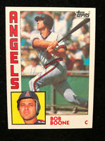 BOB BOONE 1984 TOPPS AUTOGRAPHED SIGNED AUTO BASEBALL CARD 520 ANGELS