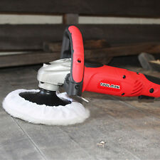 "Toolman 7"" compact Polishing Buffer Waxer Sander machine W/ Wool pad & sandpaper"