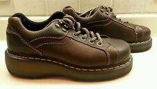 Doc Dr Martens Brown Leather lace up Shoe Womens 7 Mens 6