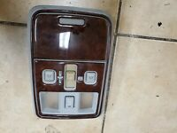 2003 2004 2005 2006  LINCOLN LS OVERHEAD CONSOLE LIGHTS SUNROOF SWITCH WOOD TRIM