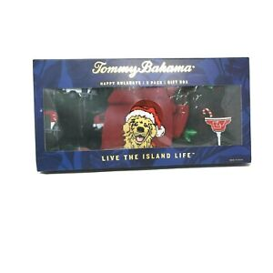 Tommy Bahama Happy Huladays 3 Pack Socks, Dog, Drink Camper Sealed Box Free Ship