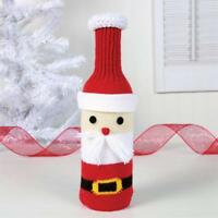 Knit Santa Wine Bottle Cover, Christmas Wine Bottle Cover, Knit