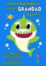 GRANDAD SHARK personalised A5 BIRTHDAY CARD any NAME AGE RELATION