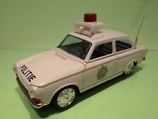 ICHIKO HEMA DAF POLITIE - DUTCH POLICE -  WHITE  L23.0cm RARE - GOOD - TIN TOY