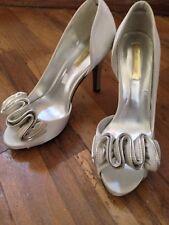 scarpe In Raso , Decollete , Con rouches Spuntate