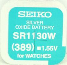Seiko 389 (SR1130W) Silber Oxid (0%Hg) Merkur Gratis Uhrenbatterie