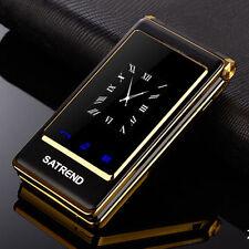 A15 noir téléphone portable double écran Quad Band Dual SIM Card GSM grosses touches téléphone