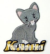 Kitty Cat Custom Iron-on Patch With Name Personalized Free