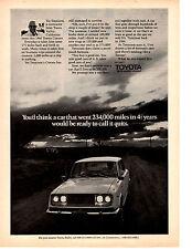 1972 TOYOTA CORONA HARDTOP ~ ORIGINAL PRINT AD