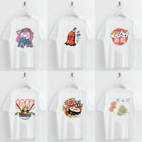 Harajuku Japanese Food Sushi Print t shirt Summer Women Short Sleeve O-neck Tops