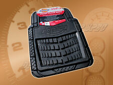 DICKIES FRONT RUBBER FLOOR MAT BLACK FOR 2012-2014 IMPORTS CAR TRUCK SUV VAN