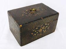 Art de l'asie : boite en bois laqué Lacquered wooden box china ?lacquer