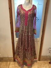 Anarkali Dress Indian/pakistani Pink&gold