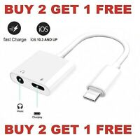 Dual Adapter for iPhone Charger & Headphone 3.5mm Jack for iPhone 7 8 X XR XS 11