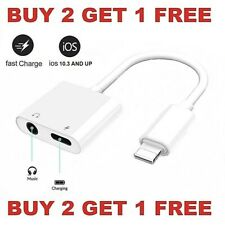 Dual Adapter 3.5mm Headphone & Charger 2 in 1 Adapter for iPhone 7 8 X XR XS 11