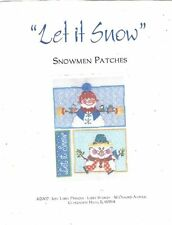 Let It Snow Snowmen Patches by Just Libby Designs