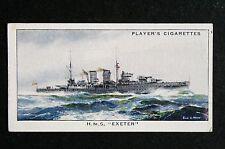 HMS EXETER    Cruiser     Original 1930's Vintage Card # VGC