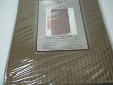 "New WINCHESTER BATH BROWN STRIPE Fabric SHOWER CURTAIN 72""x72""NIP"
