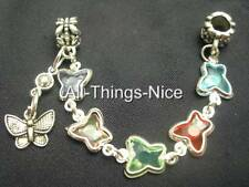 5mm Hole BUTTERFLY Bead Charm European Bracelet Decorate Safety Chain Jewellery